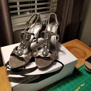 "Nine West ""Imies"" Sillver Heels"